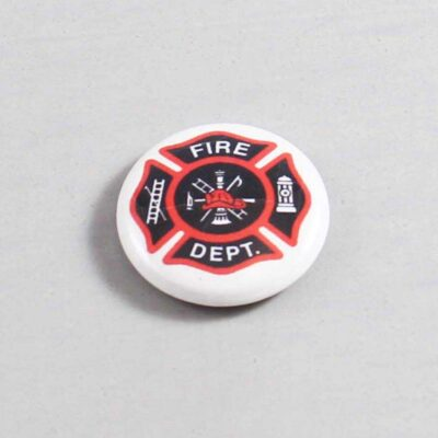 Firefighter Button 09 White
