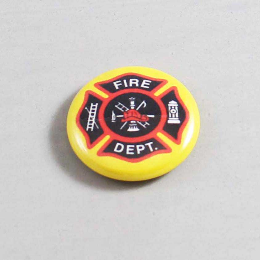 Firefighter Button 09 Yellow