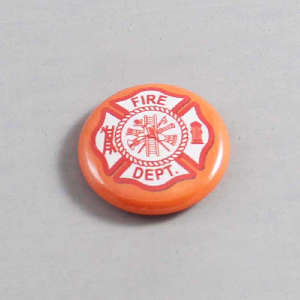 Firefighter Button 13 Orange