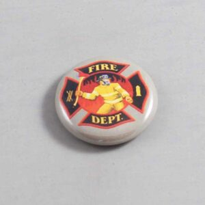 Firefighter Button 16 Gray