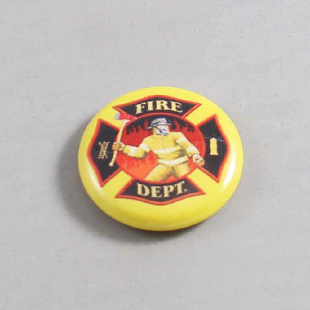 Firefighter Button 16 Yellow