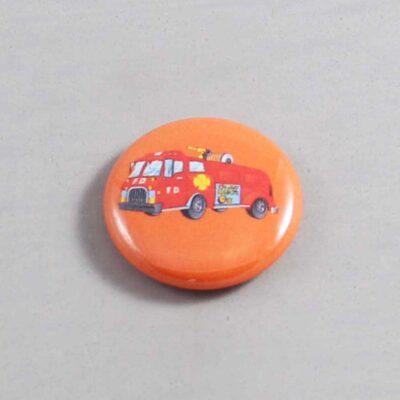 Firefighter Button 18 Orange