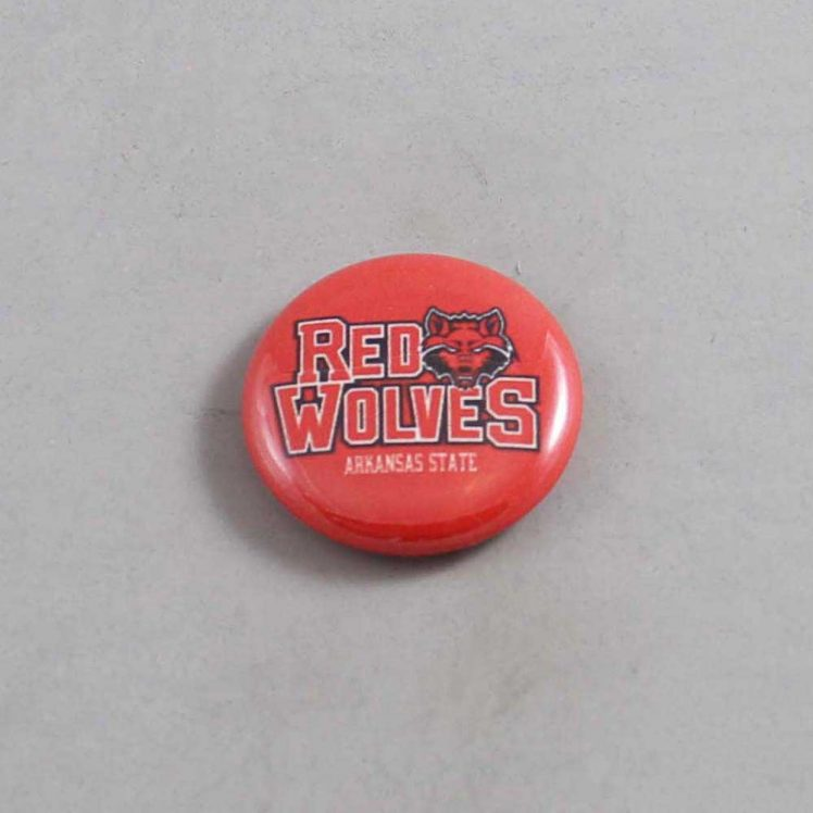 NCAA Arkansas State Red Wolves Button 01
