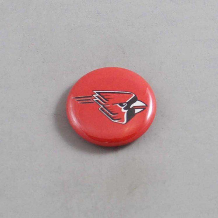 NCAA Ball State Cardinals Button 01