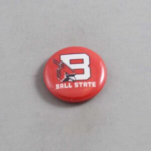 NCAA Ball State Cardinals Button 02