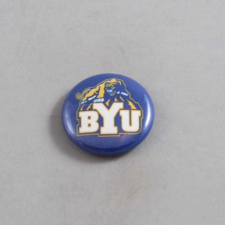 NCAA Brigham Young Cougars Button 04