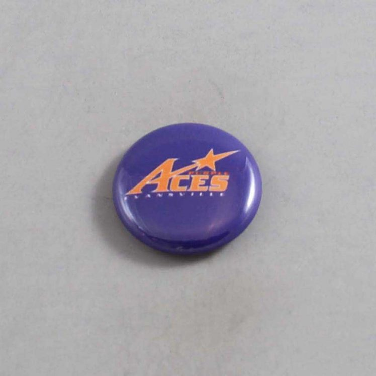 NCAA Evansville Purple Aces Button 01