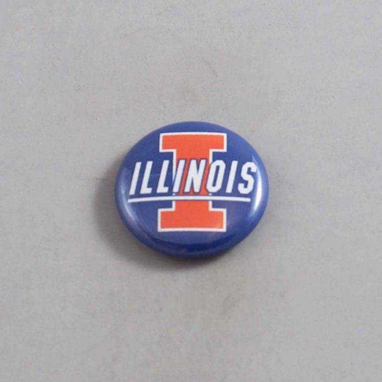 NCAA Illinois Fighting Illini Button 01