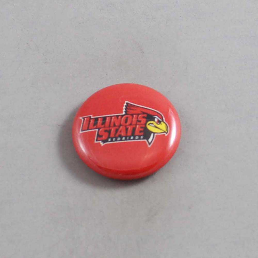 NCAA Illinois State Redbirds Button 01