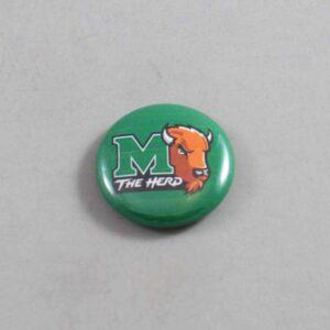 NCAA Marshall Thundering Herd Button 06