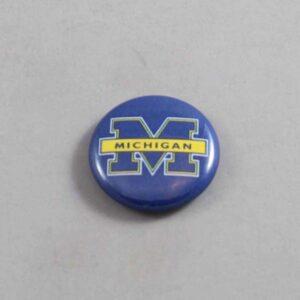 NCAA Michigan Wolverines Button 01