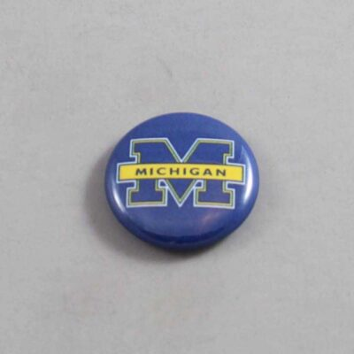NCAA Michigan Wolverines Button 01