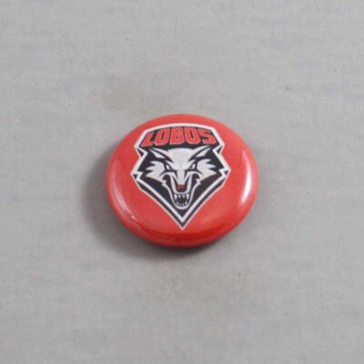 NCAA New Mexico Lobos Button 01