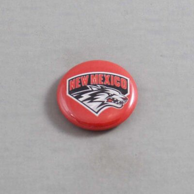 NCAA New Mexico Lobos Button 03
