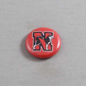 NCAA Northeastern Huskies Button 01