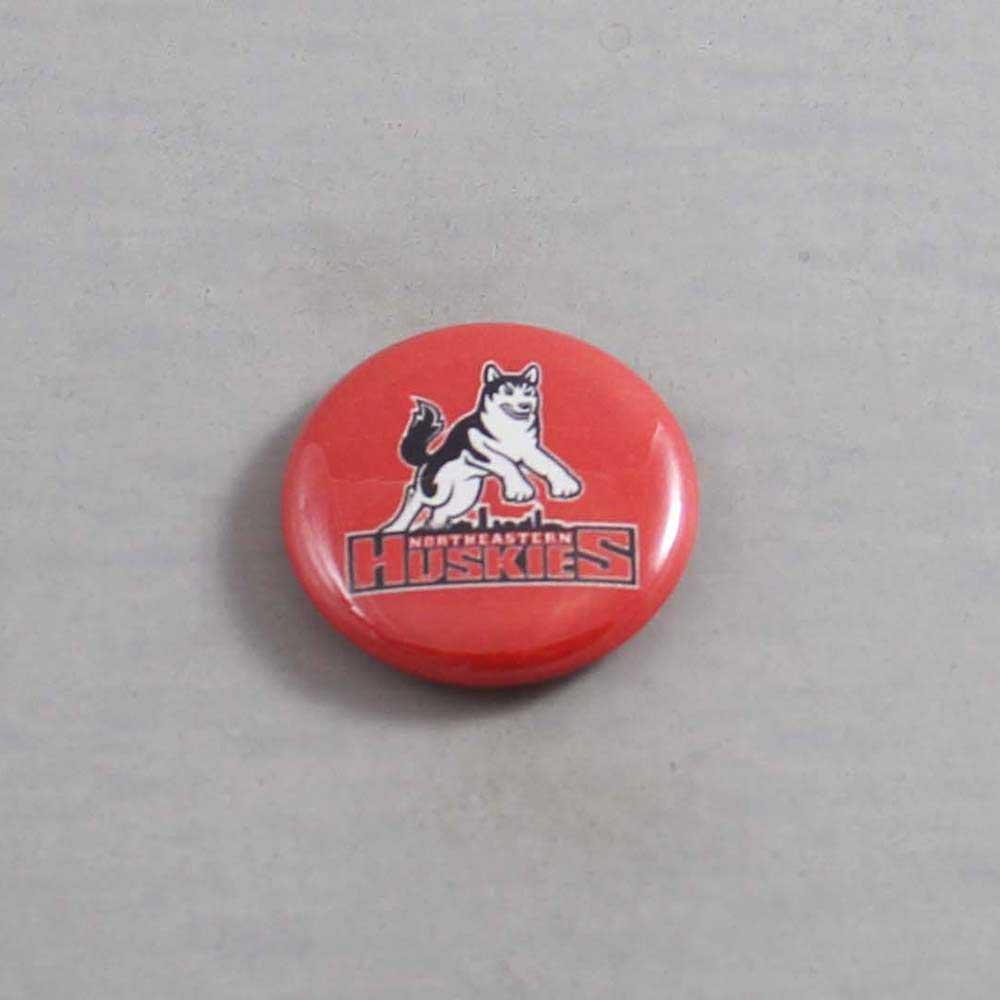 NCAA Northeastern Huskies Button 04