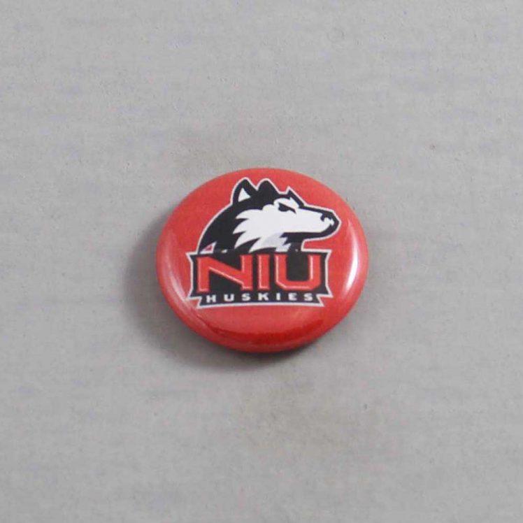 NCAA Northern Illinois Huskies Button 01