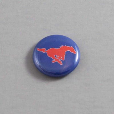 NCAA Southern Methodist Mustangs Button 01