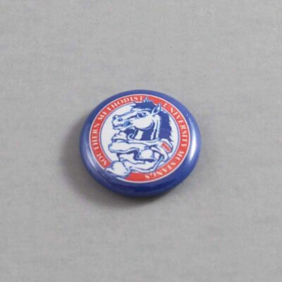 NCAA Southern Methodist Mustangs Button 03