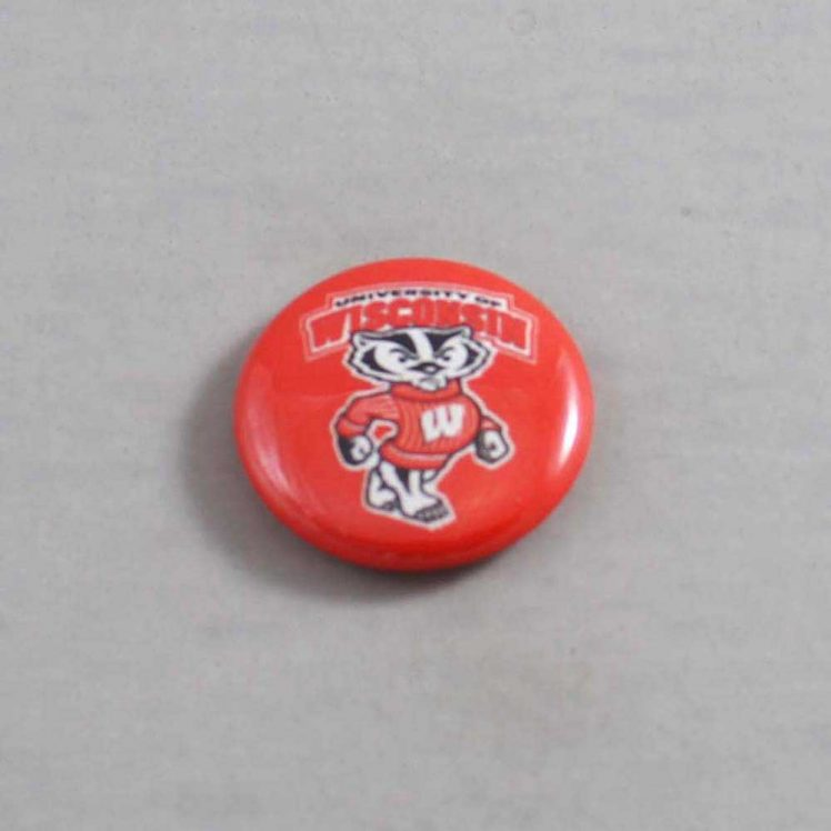 NCAA Wisconsin Badgers Button 01