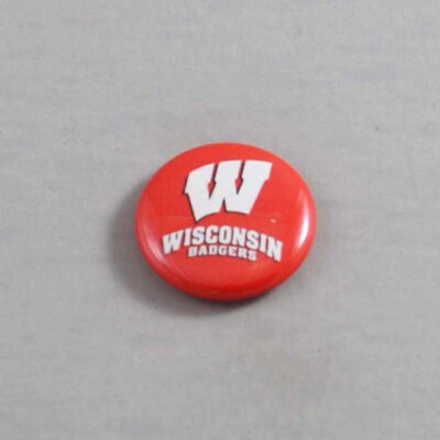 NCAA Wisconsin Badgers Button 07
