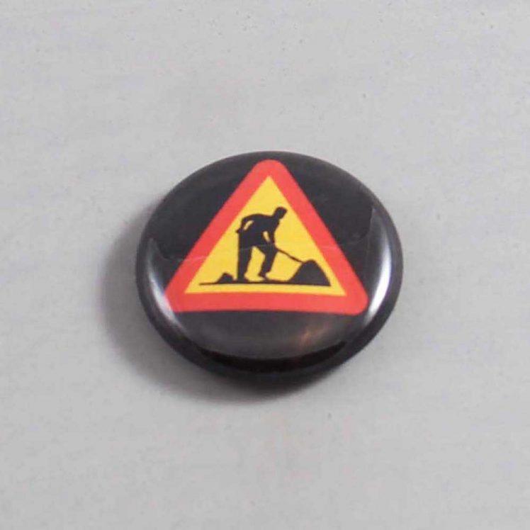 Road Construction Button 02 Black