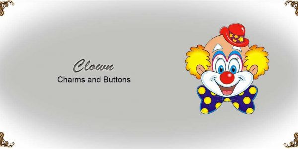 Clown Charms and Buttons