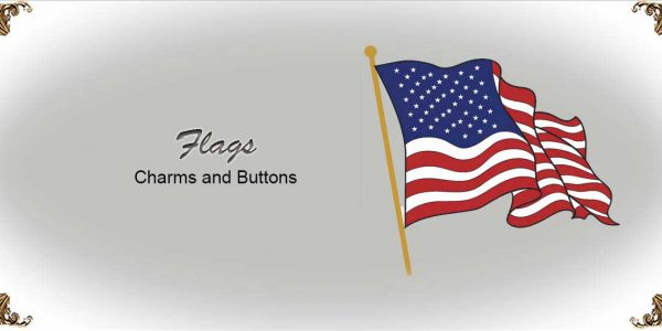 Flag Charms and Buttons