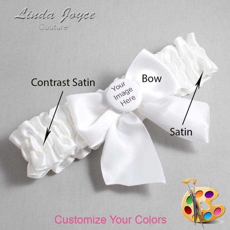 Couture Garters / Custom Wedding Garter / Customizable Wedding Garters / Personalized Wedding Garters / Custom Button #01-B01-M44 / Wedding Garters / Bridal Garter / Prom Garter / Linda Joyce Couture