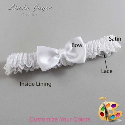 Couture Garters / Custom Wedding Garter / Customizable Wedding Garters / Personalized Wedding Garters / Justine #09-B29-00 / Wedding Garters / Bridal Garter / Prom Garter / Linda Joyce Couture