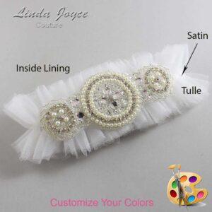 Couture Garters / Custom Wedding Garter / Customizable Wedding Garters / Personalized Wedding Garters / Linda #23-A00 / Wedding Garters / Bridal Garter / Prom Garter / Linda Joyce Couture