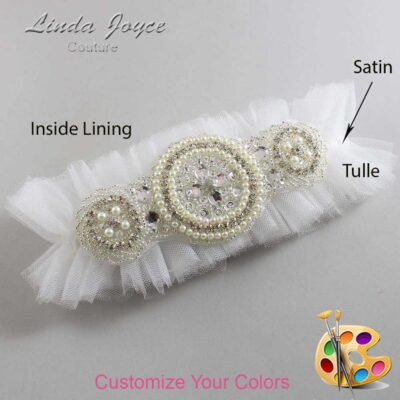 Couture Garters / Custom Wedding Garter / Customizable Wedding Garters / Personalized Wedding Garters / Linda #23-A00 / Wedding Garters / Bridal Garter / Prom Garter / Linda Joyce Couture