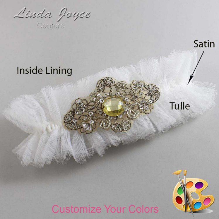 Couture Garters / Custom Wedding Garter / Customizable Wedding Garters / Personalized Wedding Garters / Bijou # 23-A23-Antique / Wedding Garters / Bridal Garter / Prom Garter / Linda Joyce Couture