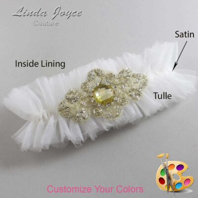 Couture Garters / Custom Wedding Garter / Customizable Wedding Garters / Personalized Wedding Garters / Bijou # 23-A03-Gold / Wedding Garters / Bridal Garter / Prom Garter / Linda Joyce Couture