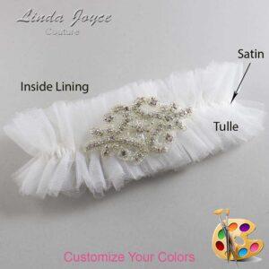 Couture Garters / Custom Wedding Garter / Customizable Wedding Garters / Personalized Wedding Garters / Heather # 23-A07-Silver / Wedding Garters / Bridal Garter / Prom Garter / Linda Joyce Couture
