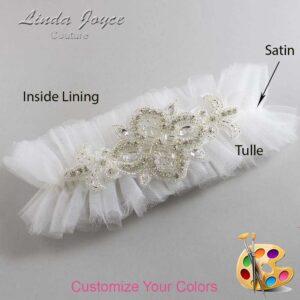 Couture Garters / Custom Wedding Garter / Customizable Wedding Garters / Personalized Wedding Garters / Isabella # 23-A08-Silver / Wedding Garters / Bridal Garter / Prom Garter / Linda Joyce Couture