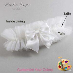 Couture Garters / Custom Wedding Garter / Customizable Wedding Garters / Personalized Wedding Garters / Kimberly #23-B01-00 / Wedding Garters / Bridal Garter / Prom Garter / Linda Joyce Couture