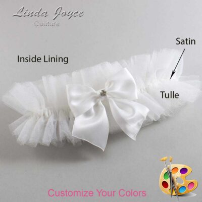 Customizable Wedding Garter / Pamela #23-B01-M04