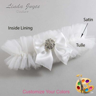 Customizable Wedding Garter / Elizabeth #23-B01-M11