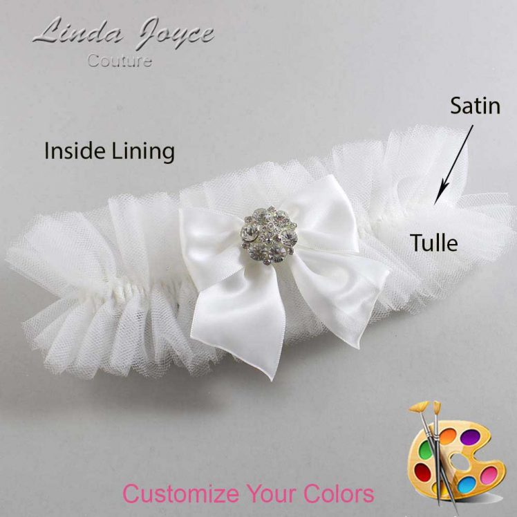 Couture Garters / Custom Wedding Garter / Customizable Wedding Garters / Personalized Wedding Garters / Elizabeth #23-B01-M11 / Wedding Garters / Bridal Garter / Prom Garter / Linda Joyce Couture