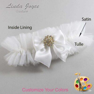 Couture Garters / Custom Wedding Garter / Customizable Wedding Garters / Personalized Wedding Garters / Penny #23-B01-M12 / Wedding Garters / Bridal Garter / Prom Garter / Linda Joyce Couture