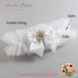 Couture Garters / Custom Wedding Garter / Customizable Wedding Garters / Personalized Wedding Garters / Adelle #23-B01-M14 / Wedding Garters / Bridal Garter / Prom Garter / Linda Joyce Couture