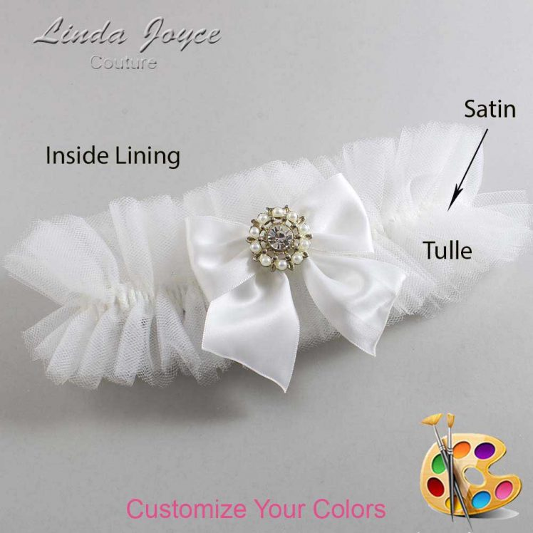 Couture Garters / Custom Wedding Garter / Customizable Wedding Garters / Personalized Wedding Garters / Adelle #23-B01-M14 / Wedding Garters / Bridal Garter / Prom Garter / Linda Joyce Couture