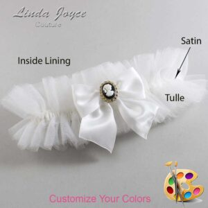 Couture Garters / Custom Wedding Garter / Customizable Wedding Garters / Personalized Wedding Garters / Amy #23-B01-M15 / Wedding Garters / Bridal Garter / Prom Garter / Linda Joyce Couture