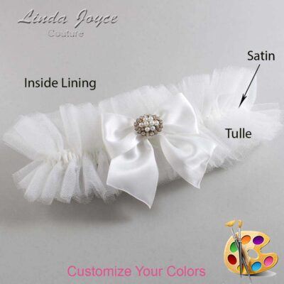 Customizable Wedding Garter / Cynthia #23-B01-M16