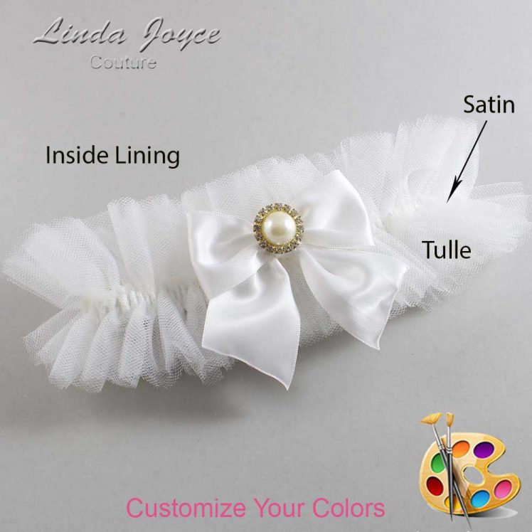 Couture Garters / Custom Wedding Garter / Customizable Wedding Garters / Personalized Wedding Garters / Paige #23-B01-M21 / Wedding Garters / Bridal Garter / Prom Garter / Linda Joyce Couture
