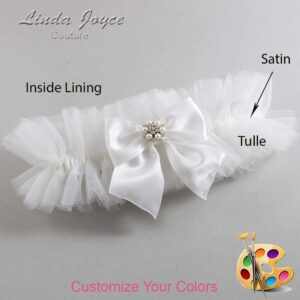 Couture Garters / Custom Wedding Garter / Customizable Wedding Garters / Personalized Wedding Garters / Naomi #23-B01-M23 / Wedding Garters / Bridal Garter / Prom Garter / Linda Joyce Couture