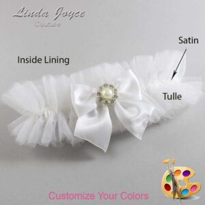 Couture Garters / Custom Wedding Garter / Customizable Wedding Garters / Personalized Wedding Garters / Amanda #23-B01-M24 / Wedding Garters / Bridal Garter / Prom Garter / Linda Joyce Couture