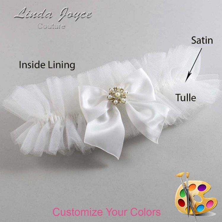 Couture Garters / Custom Wedding Garter / Customizable Wedding Garters / Personalized Wedding Garters / Larissa #23-B01-M27 / Wedding Garters / Bridal Garter / Prom Garter / Linda Joyce Couture