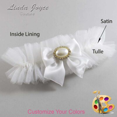 Customizable Wedding Garter / Nicole #23-B01-M28